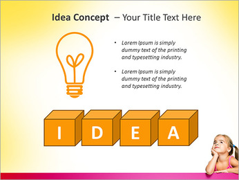 Cute Girl PowerPoint Template - Slide 60