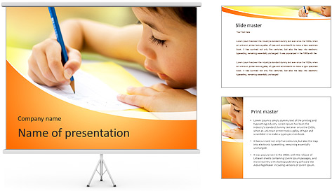 Girl Drawing PowerPoint Template