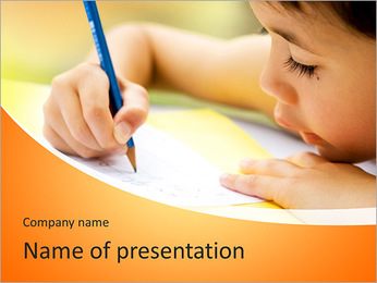 Girl Drawing PowerPoint Template - Slide 1