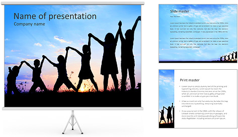 Group Of Children PowerPoint Template