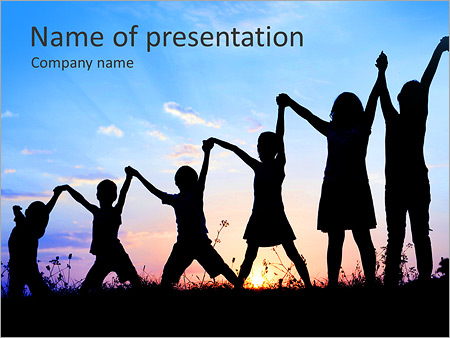 Group of children powerpoint template backgrounds id 0000007709 group of children powerpoint templates toneelgroepblik Images