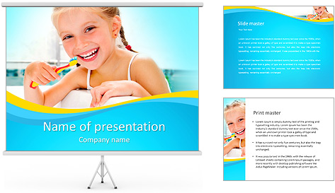 Brush Up Teeth PowerPoint Template