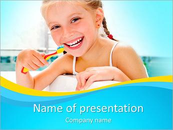 Brush Up Teeth PowerPoint Templates - Slide 1