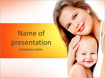 Happy Mother PowerPoint Template - Slide 1