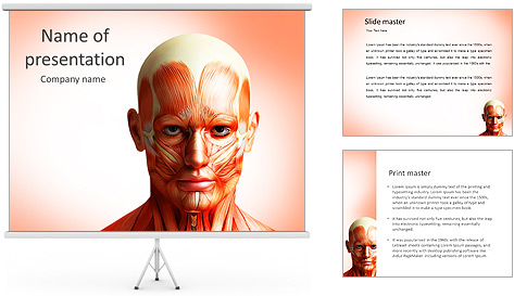Head anatomy powerpoint template backgrounds id for Anatomy ppt templates free download