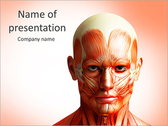 Head Anatomy PowerPoint Template - Slide 1