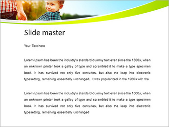 Walk With Kid PowerPoint Template - Slide 2