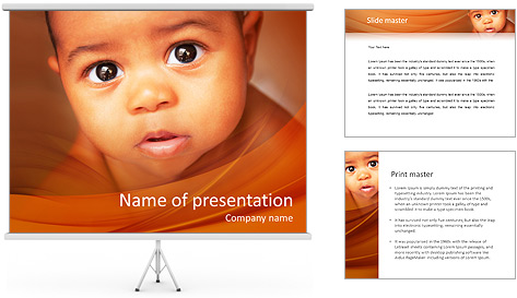 Afro American Baby PowerPoint Template
