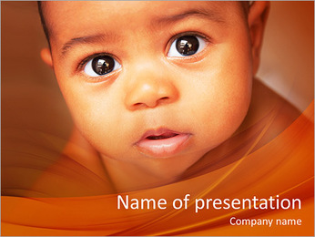 Afro American Baby PowerPoint Templates - Slide 1
