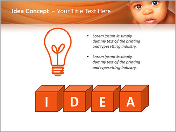 Afro American Baby PowerPoint Templates - Slide 60
