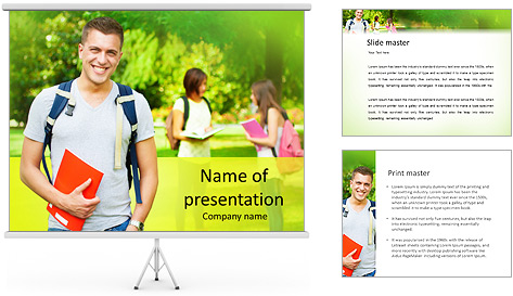 University Years PowerPoint Template