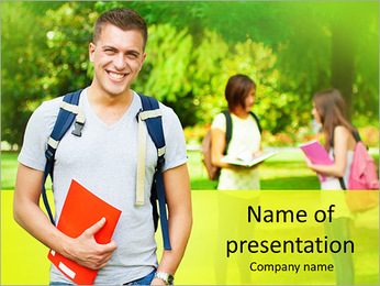 University Years PowerPoint Templates - Slide 1