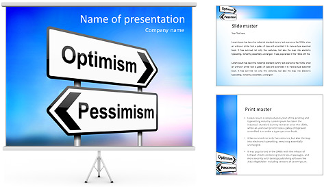 Optimism Vs Pessimism PowerPoint Template