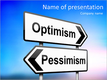 Optimism Vs Pessimism PowerPoint Template - Slide 1
