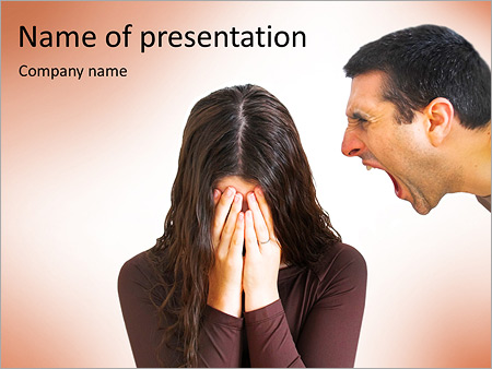 Quarreling Couple PowerPoint Templates
