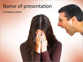 Quarreling Couple PowerPoint Templates - Slide 1