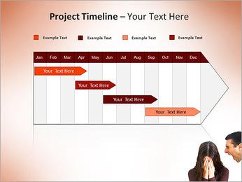 Quarreling Couple PowerPoint Templates - Slide 5