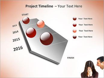 Quarreling Couple PowerPoint Templates - Slide 6