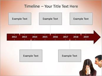 Quarreling Couple PowerPoint Templates - Slide 8