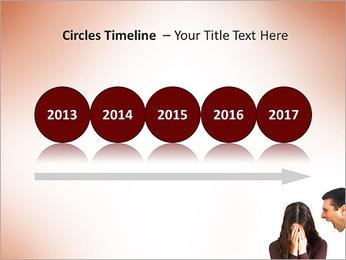 Quarreling Couple PowerPoint Templates - Slide 9