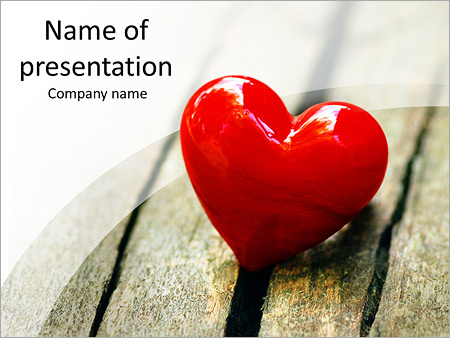 red heart powerpoint template & backgrounds id 0000007720, Modern powerpoint