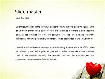Red Heart PowerPoint Template - Slide 2
