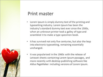Red Heart PowerPoint Template - Slide 76