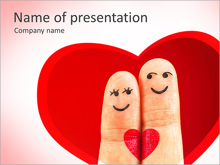 Finger Couple PowerPoint Templates