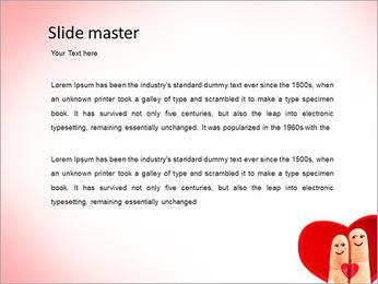 Finger Couple PowerPoint Template - Slide 2