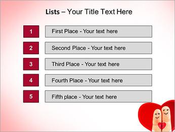 Finger Couple PowerPoint Template - Slide 3