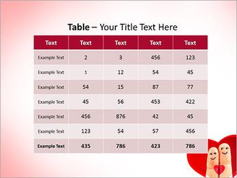 Finger Couple PowerPoint Template - Slide 35