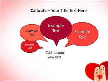 Finger Couple PowerPoint Template - Slide 53