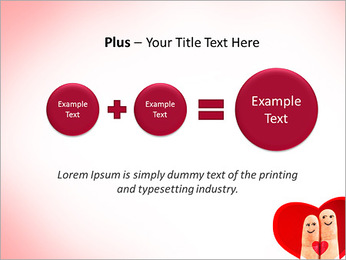 Finger Couple PowerPoint Template - Slide 55