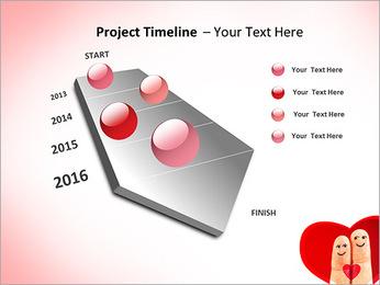 Finger Couple PowerPoint Template - Slide 6