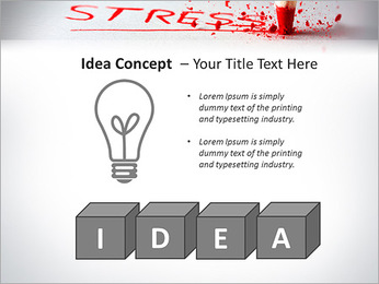 Stress PowerPoint Template - Slide 60
