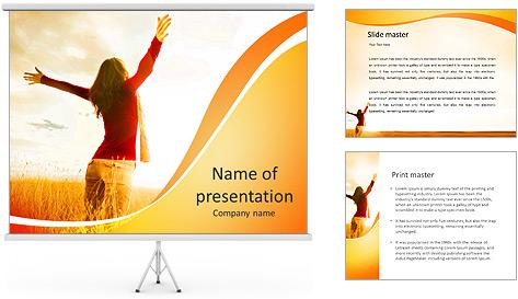 Woman Enjoy Nature PowerPoint Template