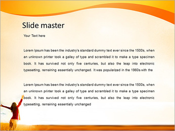 Woman Enjoy Nature PowerPoint Template - Slide 2