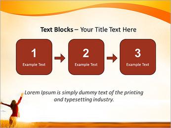Woman Enjoy Nature PowerPoint Template - Slide 51
