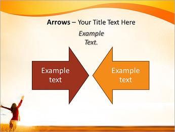 Woman Enjoy Nature PowerPoint Template - Slide 70
