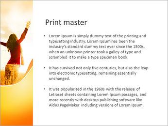 Woman Enjoy Nature PowerPoint Template - Slide 76