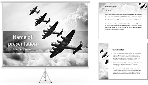 Plane Parade PowerPoint Template