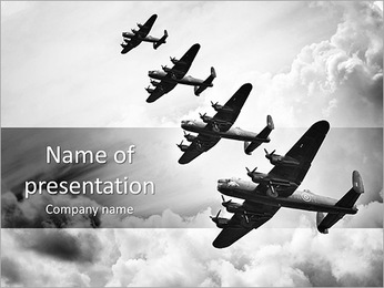 Plane Parade PowerPoint Template - Slide 1