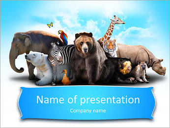 Zoo PowerPoint Template - Slide 1