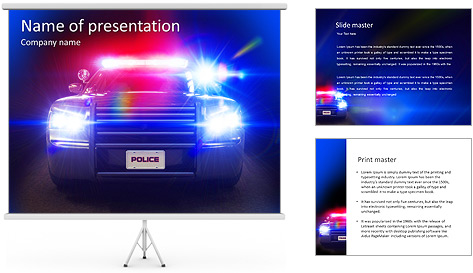Police Car PowerPoint Template