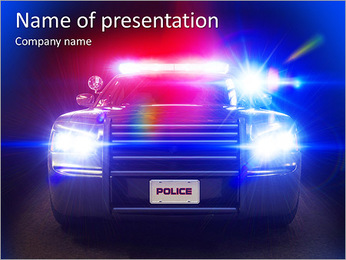 Police Car PowerPoint Template - Slide 1