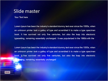 Police Car PowerPoint Template - Slide 2