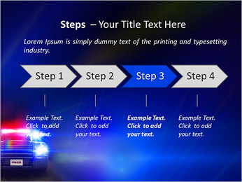 Police Car PowerPoint Template - Slide 4