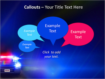 Police Car PowerPoint Template - Slide 53