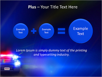 Police Car PowerPoint Template - Slide 55