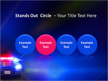 Police Car PowerPoint Template - Slide 56